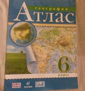 Атлас по географии и истории России 6 класс