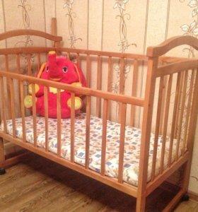 Кроватка детская + матрас на кокосовой стружке
