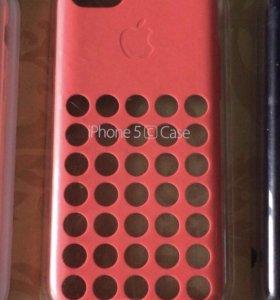 Оригинальный розовый чехол Apple на айфон 5C (!)