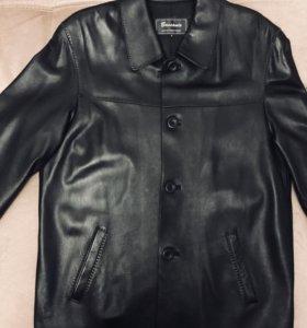 Кожаная куртка пиджак Bassanio,Италия.