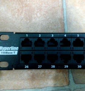 Продам патч панель Huperline