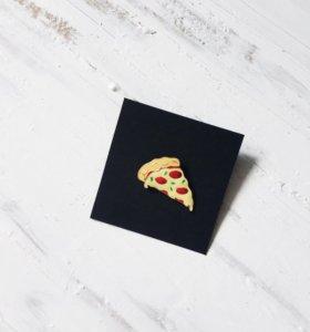 Значок Пицца 🍕на пальто, куртку, портфель, рюкзак