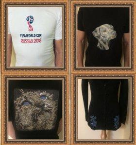 Машинная вышивка декоративная и именная