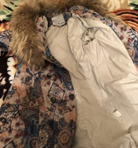 Зимнее пальто без капюшона 42-44
