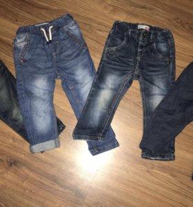 Джинсы next и брюки gap 18-24 мес