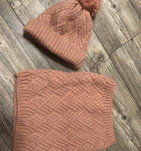 Zara комплект(шапка+снуд)