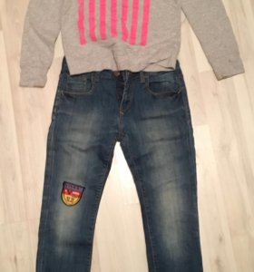 джинсы zara kids c Финки + футболка/свитшот