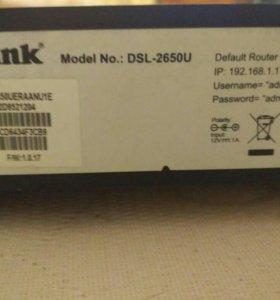 Беспроводной модем/маршрутизатор Роутер DSL-2650U