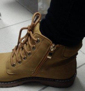 Ботинки женские коричневые