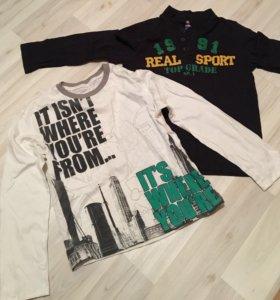футболки с длинным рукавом 134-140