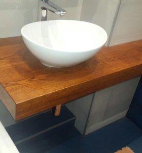 Столешницы для ванной комнаты и для кухонь