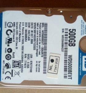 """WD blue 500gb 2,5"""" для ноутбука"""