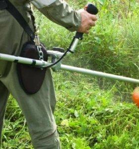 Покос травы 3 рубля кв.метр, от 100 кв.м