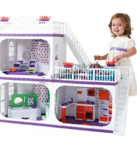 Дом для кукол с мебелью