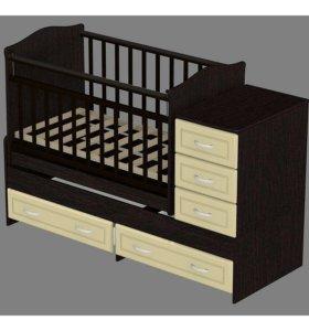 Детская кровать-качалка трансформер