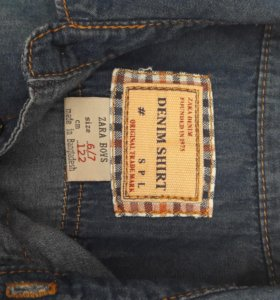 Рубашка на мальчика джинсовая