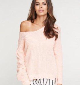 Пуловер/джемпер/свитер вязаный хлопковый