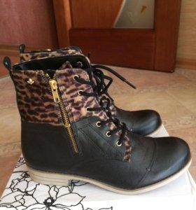 Ботинки демисезонные кожанные, 38 размер