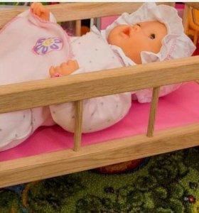 Кукольная кроватка - качалка