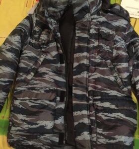 Камуфляжная зимняя куртка