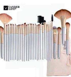 Набор кистей для макияжа в чехле 32 штуки