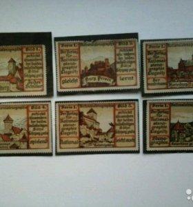 Не почтовые марки Германии 1903 год, редкие