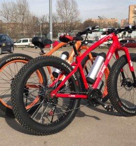 Электрический Велосипед С большими колесами!