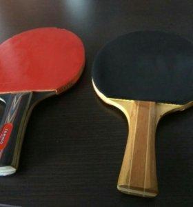 Две ракетки для настольного тенниса