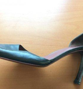 Туфли вечерние кожаные Zara р 39