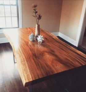 Стол в стиле = Лофт = из массива дерева