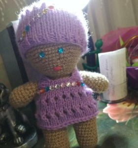 Кукла - пупс вязанная