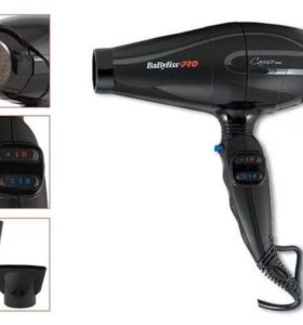 Фен BaByliss Pro Caruso Ionic, 2400 Вт, BAB6510IRE