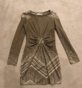 Бежевое платье размер 42