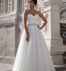 свадебное пышное платье crystal designer 42-44