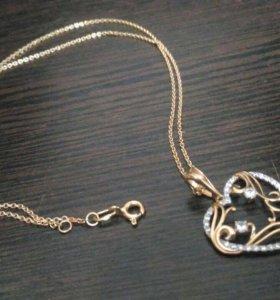 Золотая цепочка и кулон