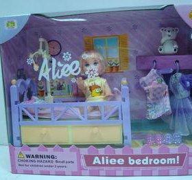 Кукла в кроватке с аксессуарами новый набор