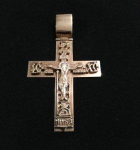 Крест золотой 585
