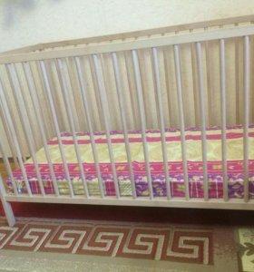 Детская кроватка из икея и новый кокосовый матрас