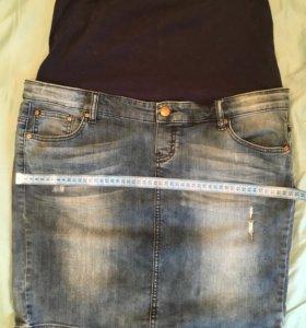 Юбка джинсовая для беременных XL