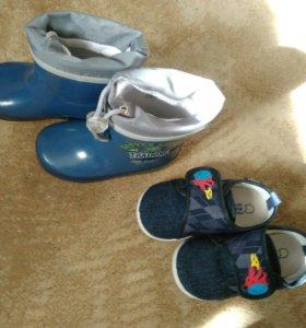 Сапоги - сандалии детские 23-24 р-р цена за 3 пары