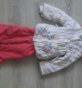 Демисезонные куртки и комбинезоны для двойняшек