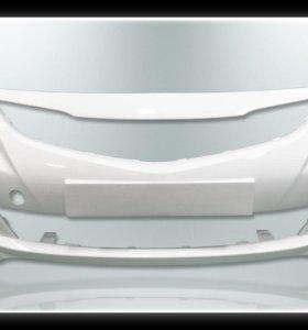 Бампер передний белый Hyundai Solaris 14-17г