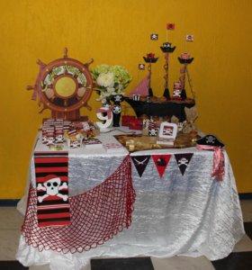 Декор праздника в пиратском стиле