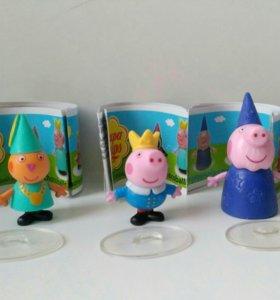 Свинка Пеппа, игрушки из шоколадных яиц