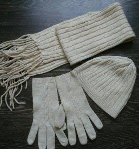 Шарф+ шапка и перчатки