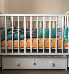 Кровать детская Лель «Лаванда» с отпд. матрасом