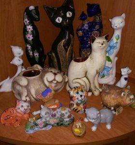 Керамические изделия кошки