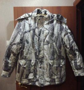 Камуфляж,зимний мужской костюм с капюшоном.