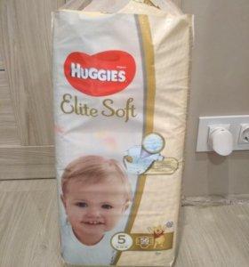 Подгузники Huggies elite soft 5