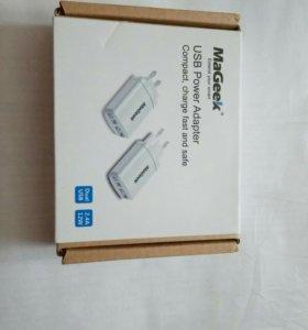 Зарядка usb(юсб) MaGeek DUAL USB, 2,4A 12W